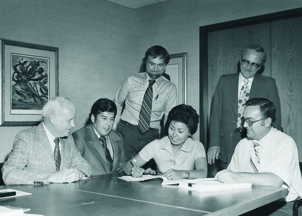 Picture of Ahtna Signing of Land Claims Agreement