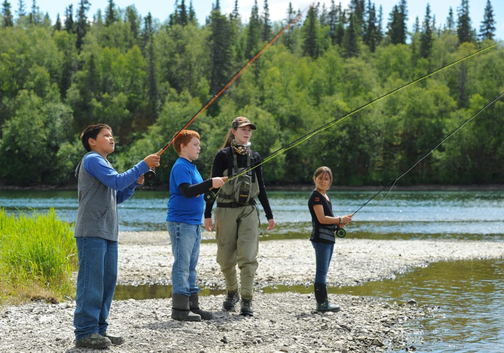 Picture of kids fishing - Image Courtesy of Bristol Bay Native Corporation