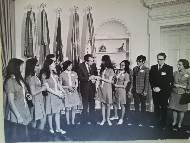 Picture of President Nixon meeting with Alaska Native Peoples